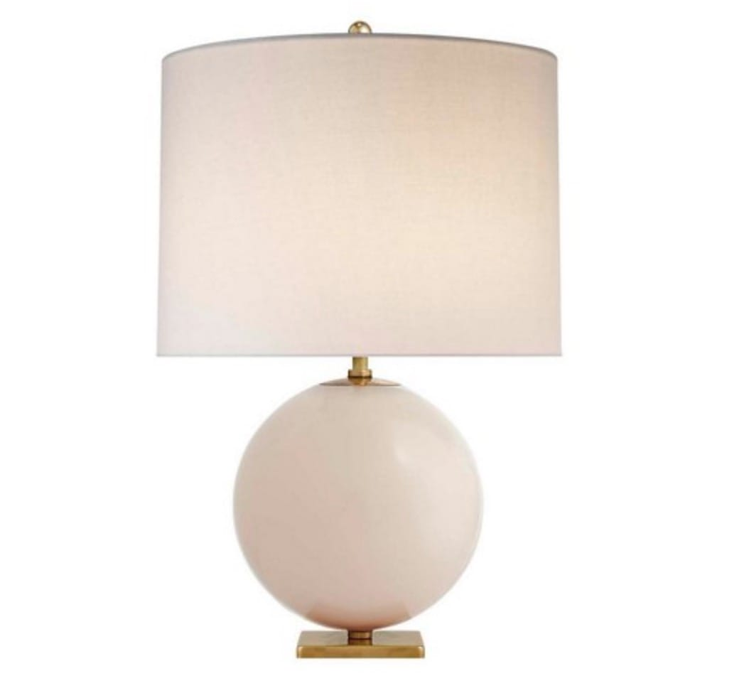 Elsie Table Lamp, Blush/Cream