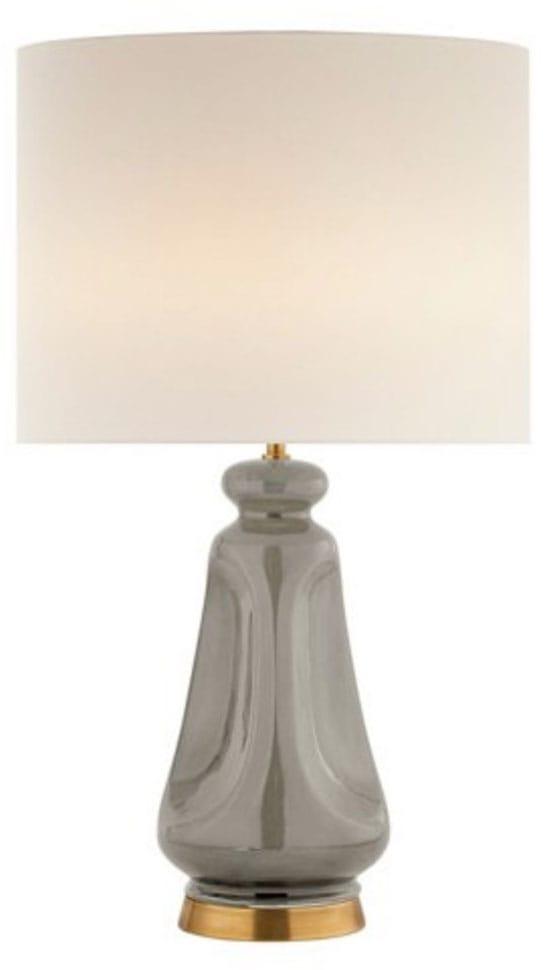 Kapila Table Lamp, Shellish Gray