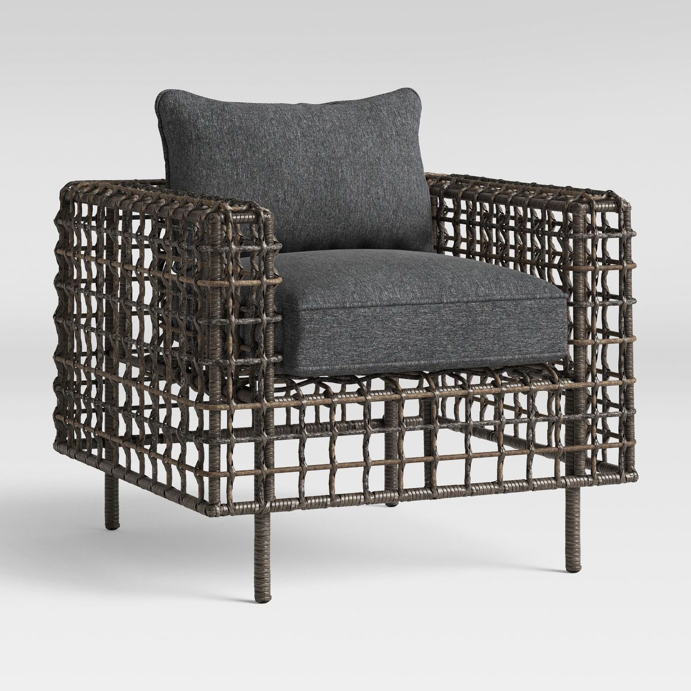 Wicker Club Outdoor patio chair