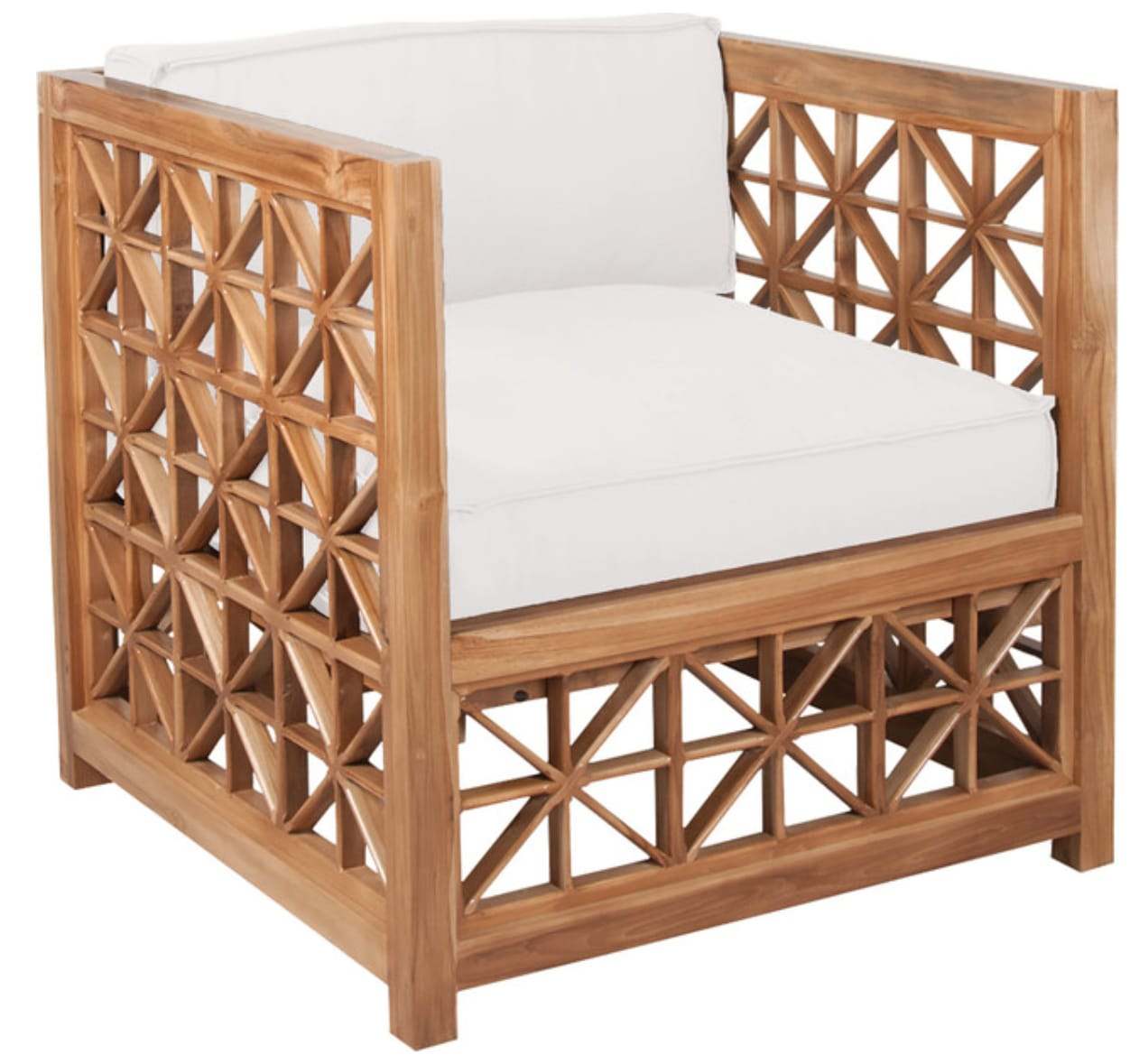 Statement Lattice Outdoor patio chair