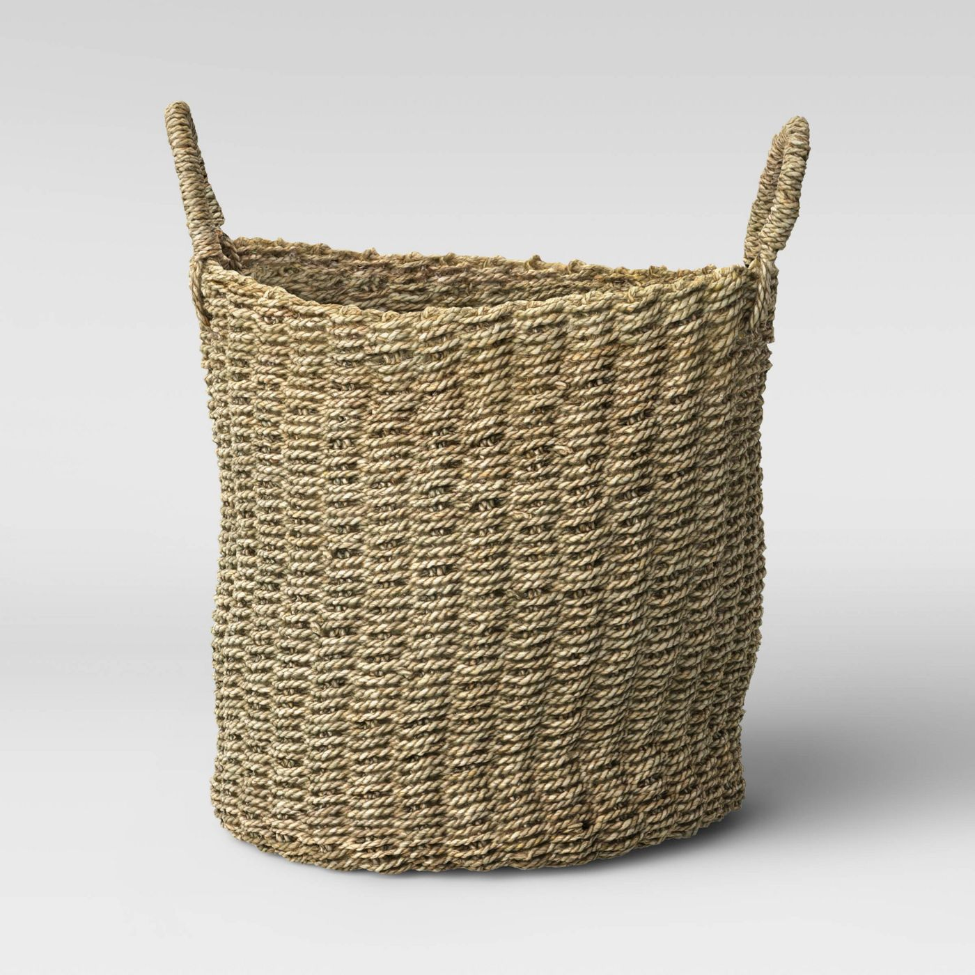 Round Mendong Basket with Handle