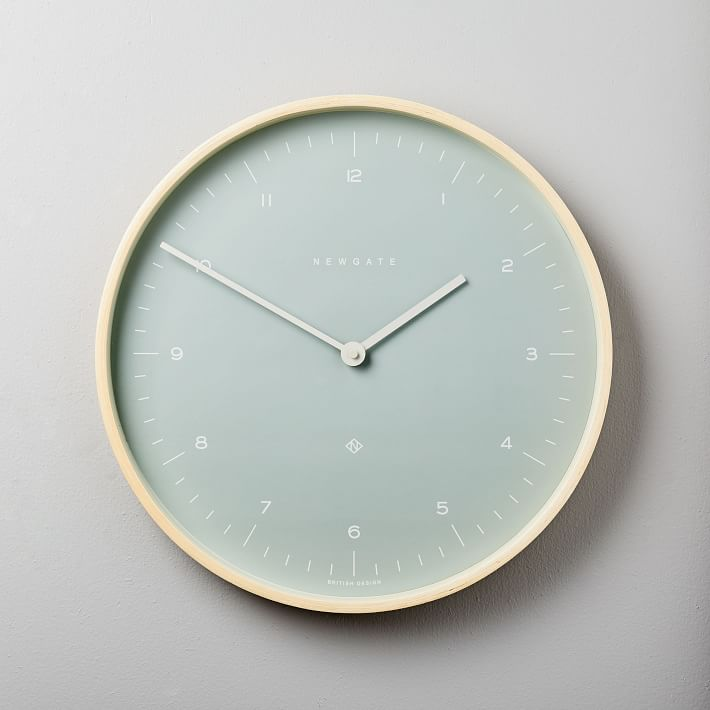 Mr. Clarke Wall Clock - Medium (Bubble Green)