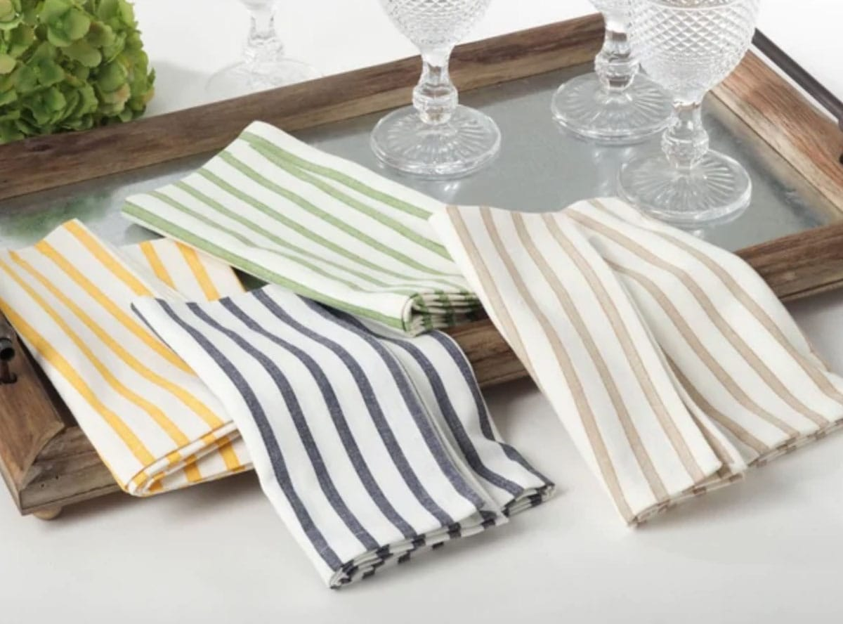Cheerful Striped Cotton Napkins