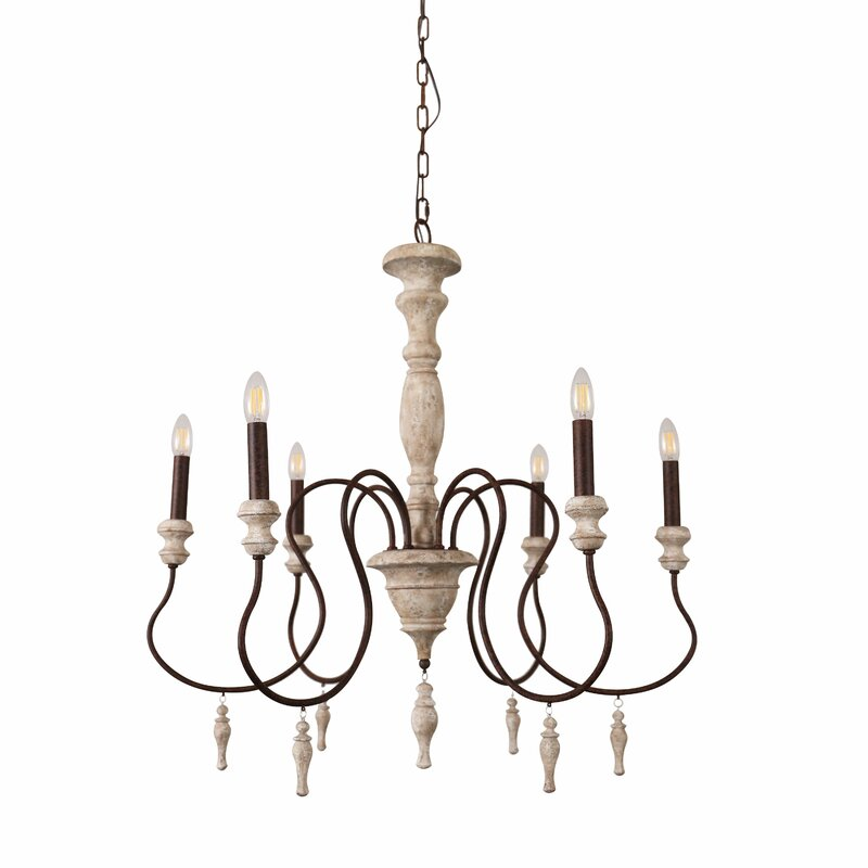 Donnelly 6 - Light Candle Style Classic / Traditional Chandelier