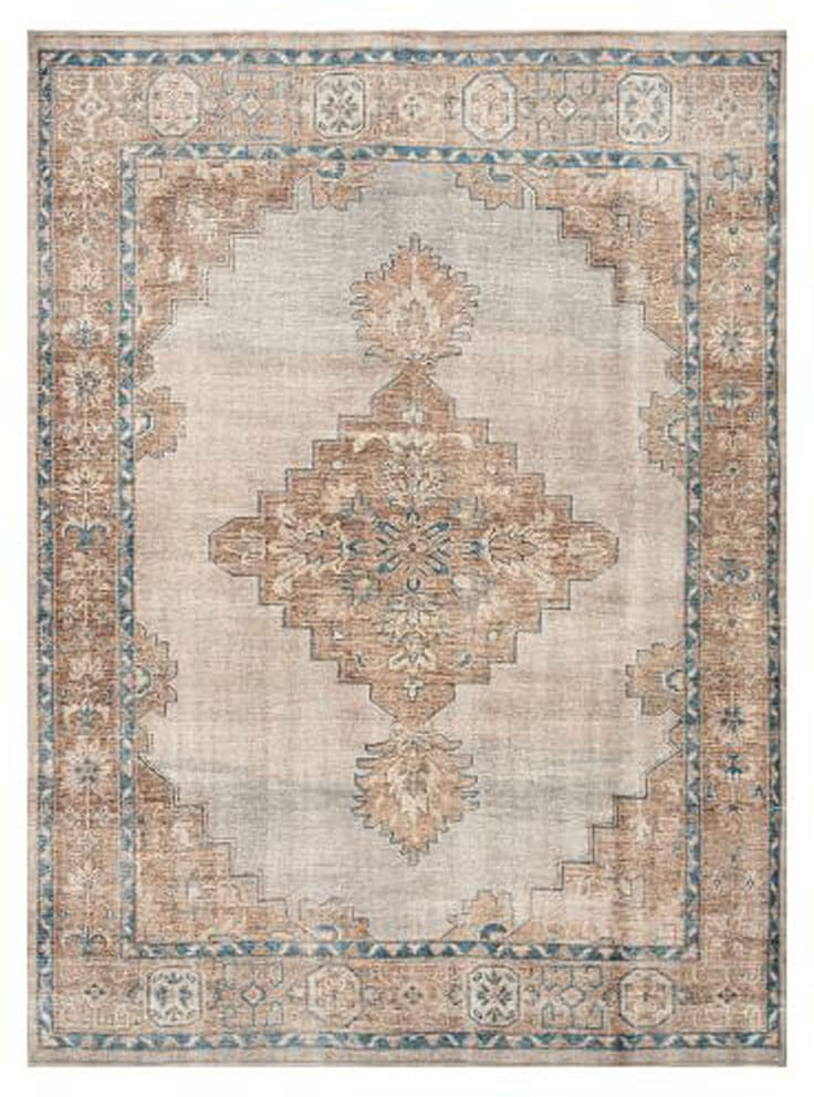 Finn Hand-Knotted Rug, 9 x 12', Blue Multi