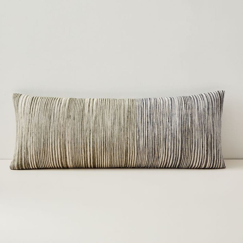 Silk Ombre Striations Bolster Pillow Cover