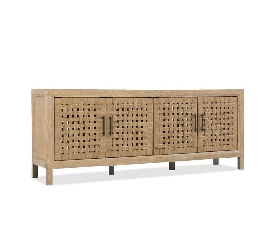 CARVER WOVEN DOOR MEDIA CONSOLE, ROPE