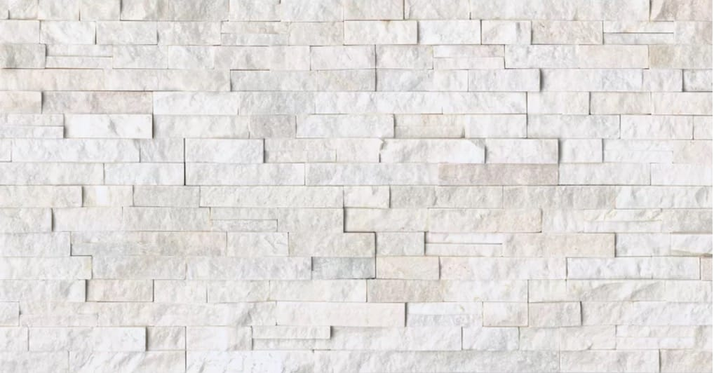 Cleft Split Face Ledger Random Sized Slate Mosaic Tile in Glacier White