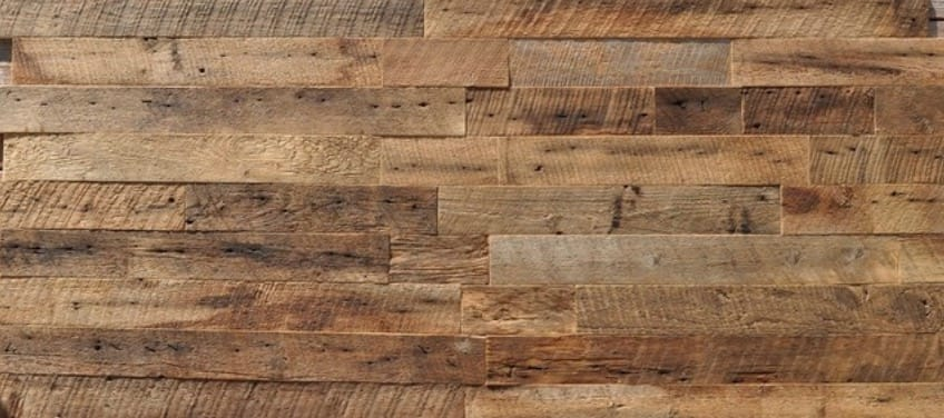 Reclaimed Wood Wall Paneling, Brown, 3.5 Wide, 20 sq. ft., Sealed
