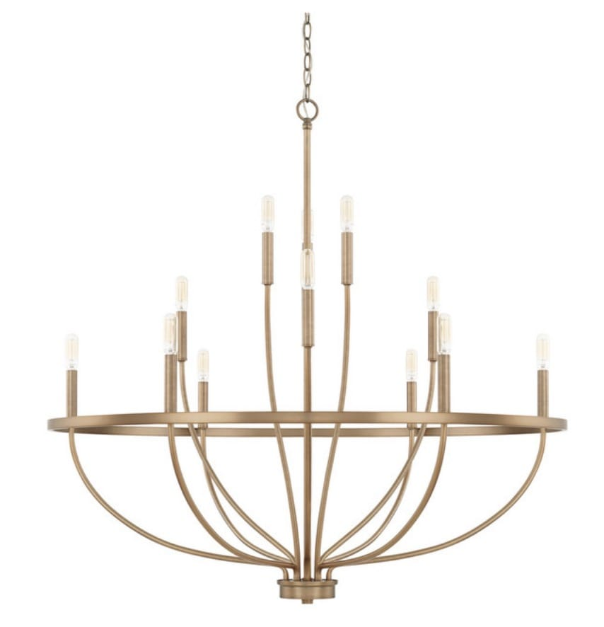 Capital Lighting 428501AD Grayson Chandelier, Aged Brass