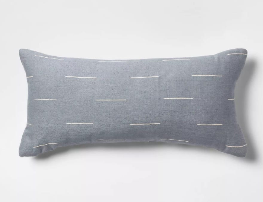 Silk Blend Dash Oversize Lumbar Throw Pillow - Project 62™