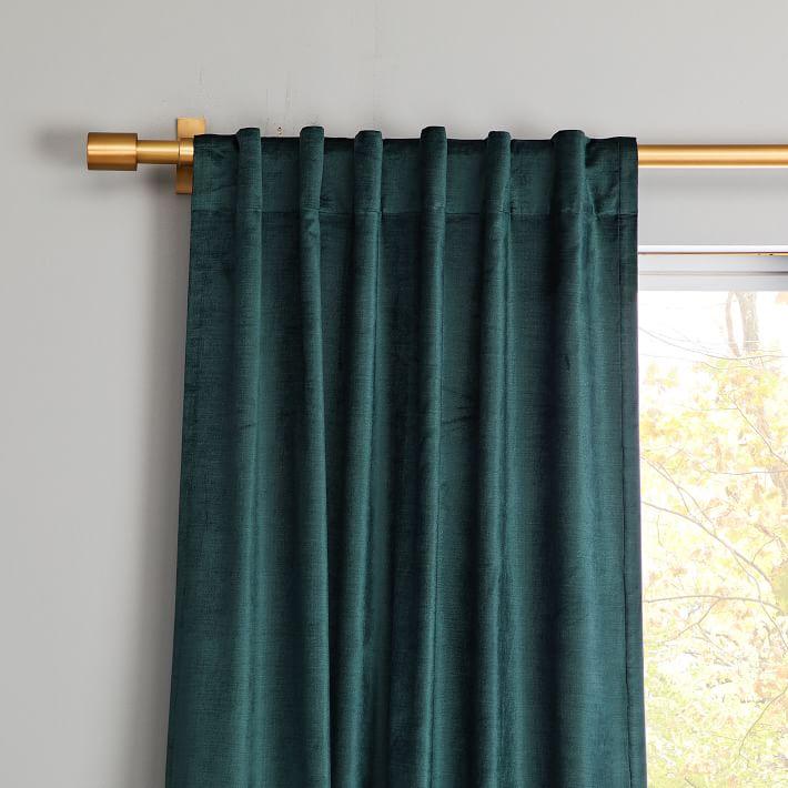 Cotton Luster Velvet Curtain - Green Gables