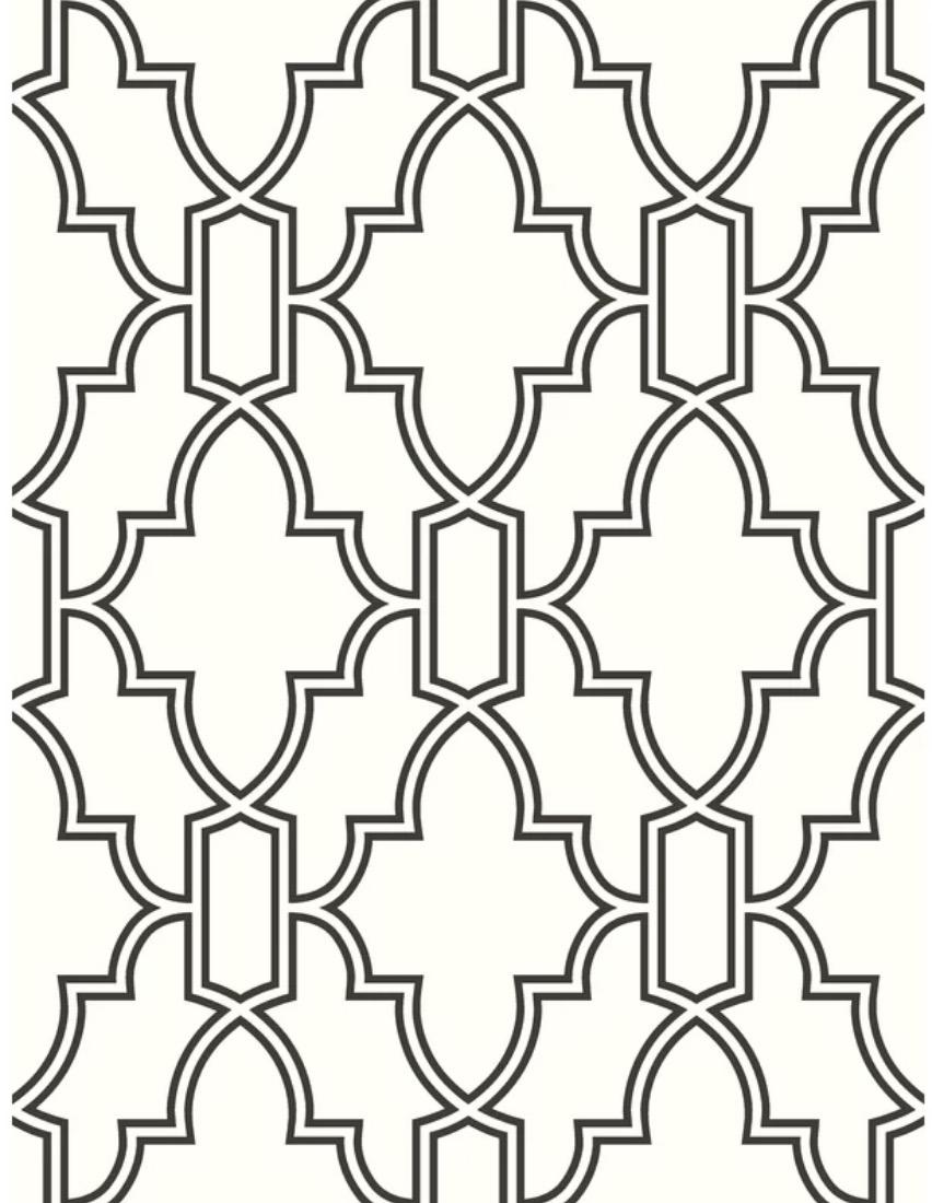 Baptiste Tile Trellis Peel and Stick Wallpaper Roll